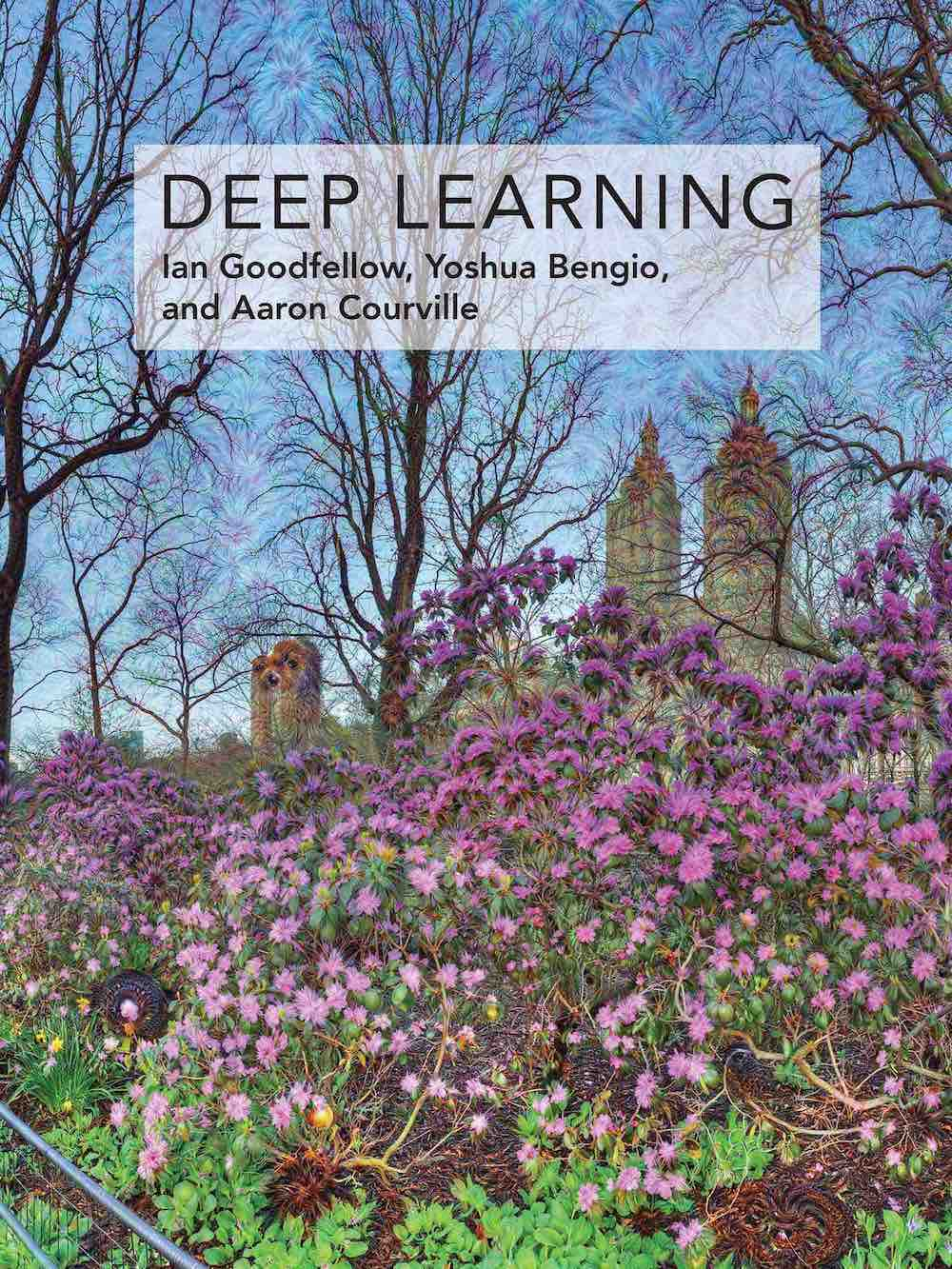 Cover of the deep learning book by Goodfellow, Bengio and Courville